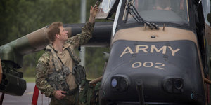 Prince Harry In Australia: Wheelchair Football, Helicopter Training