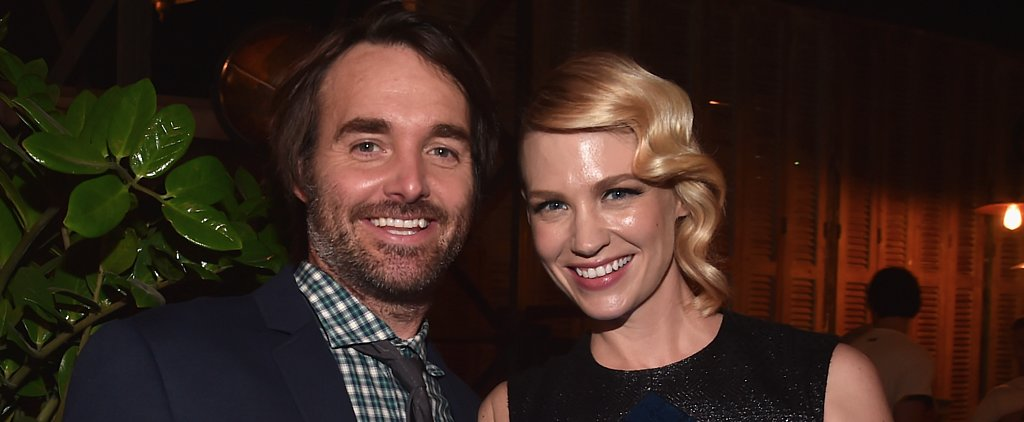 "January Jones on Working With Boyfriend Will Forte: ""It's a Blast!"""