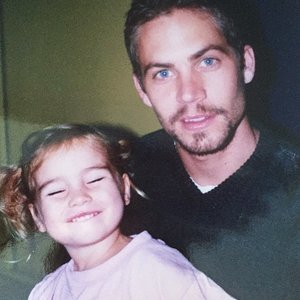 Picture of Paul Walker With His Daughter, Meadow