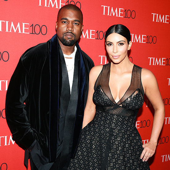 Kim Kardashian and Kanye West at the Time 100 Gala 2015