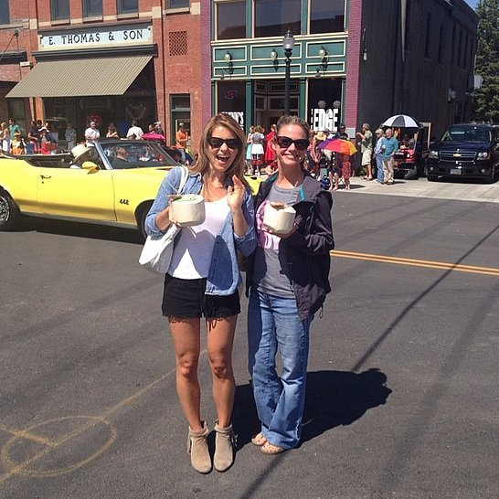"Candace: ""Parade day in Montana with @andreabarber"""