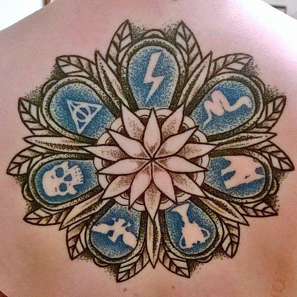 Dotwork Harry Potter Mandala | Harry Potter Tattoos That ...