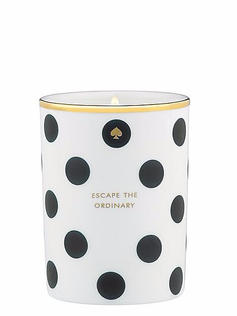 "A fashionable candle is one of life's little luxuries that Mom will surely appreciate.  Kate Spade Scented Candle ""Escape the Ordinary"" ($40)"