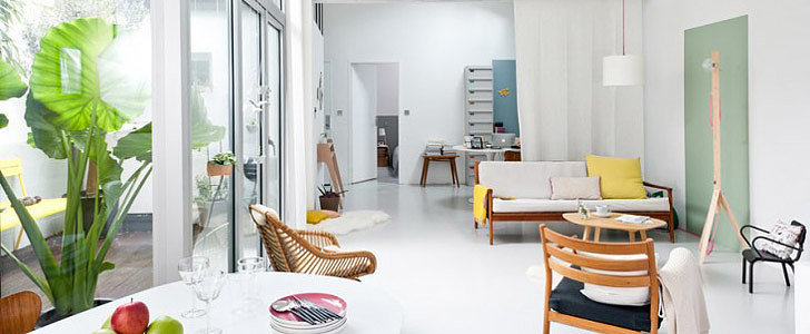 A Colorblocked Family Loft in France