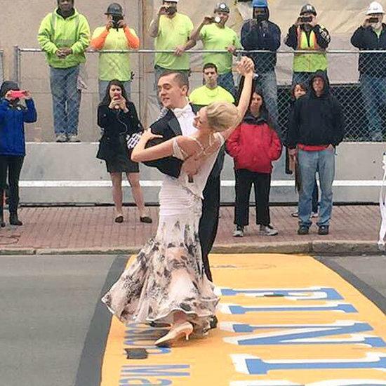 Boston Bombing Survivor Dances Across Finish Line