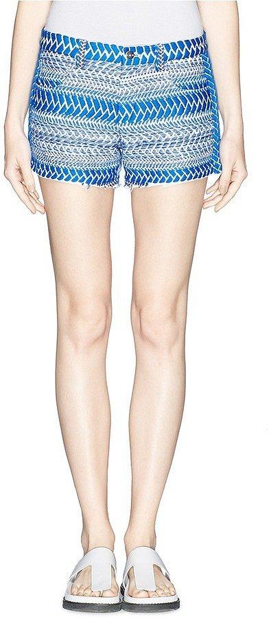 IRO Hamel Tribal Embroidery Cutoff Shorts ($315)