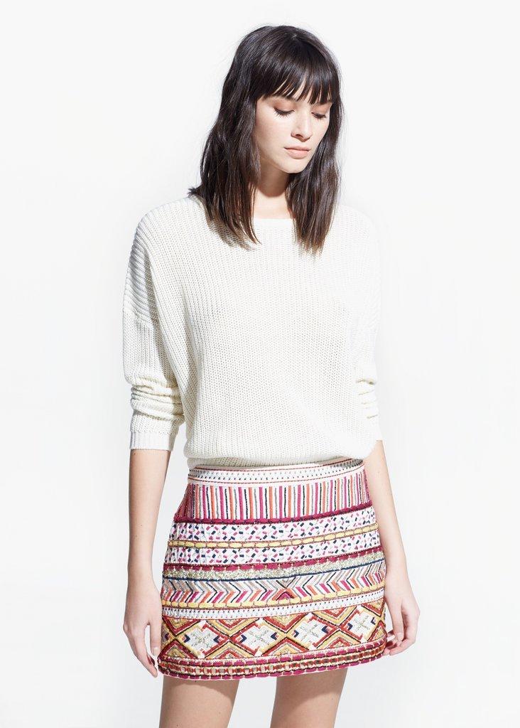 Mango Bead Ethnic Miniskirt ($80)