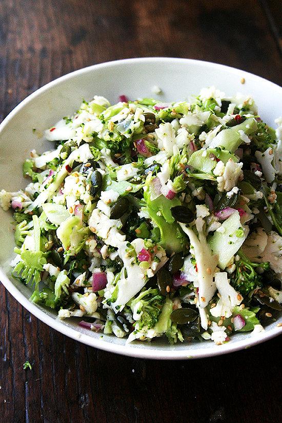 Cauliflower, Broccoli, and Sesame Salad