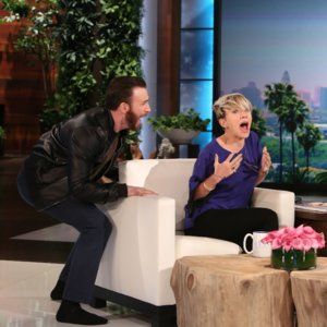 Chris Evans Scares Scarlett Johansson on Ellen