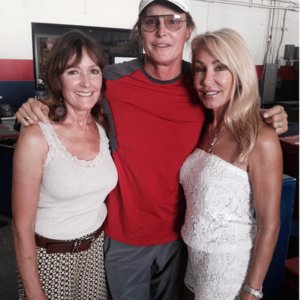 Bruce Jenner Smiling in Photo With Ex-Wives