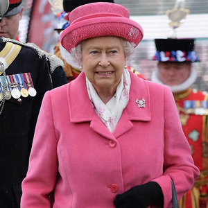 Queen Elizabeth II in Pink After Second Royal Baby's Birth