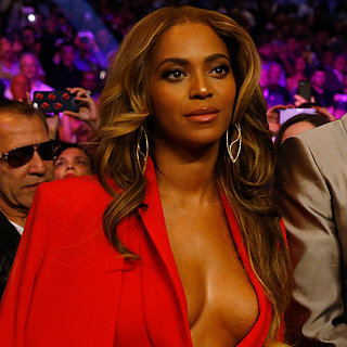 Celebrities at Mayweather vs. Pacquiao Boxing Mat
