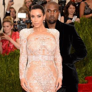 Kim Kardashian and Kanye West Pictures at 2015 Met Gala