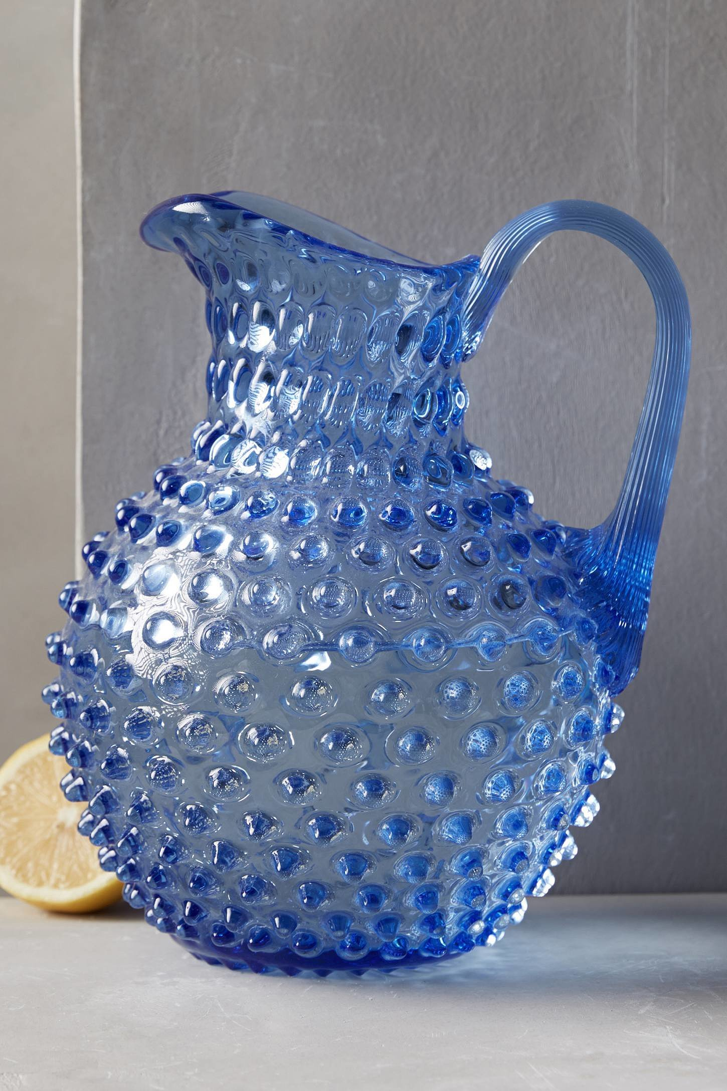 This blue hobnail pitcher ($78) makes a great pick for the mom who loves to entertain.