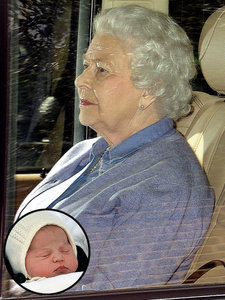 Princess Charlotte Meets Her Great-Granny the Queen!