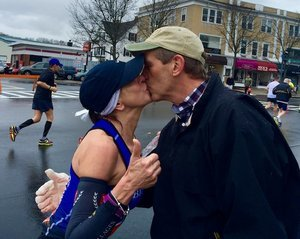 The Search for the Stranger This Woman Kissed During the Boston Marathon Is Over