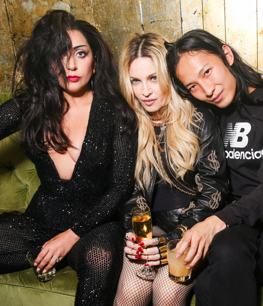 Lady Gaga, Madonna, and Alexander Wang buddied up at the designer's afterparty.