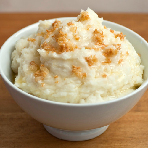 Yogurt Whipped Potatoes With Browned Butter Garlic Sauce
