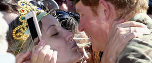 Prince Harry Gets an Unexpected Kiss on the Lips While Bidding Farewell to Australia
