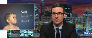 John Oliver Sounds Off on Unpaid Maternity Leave on Mother's Day