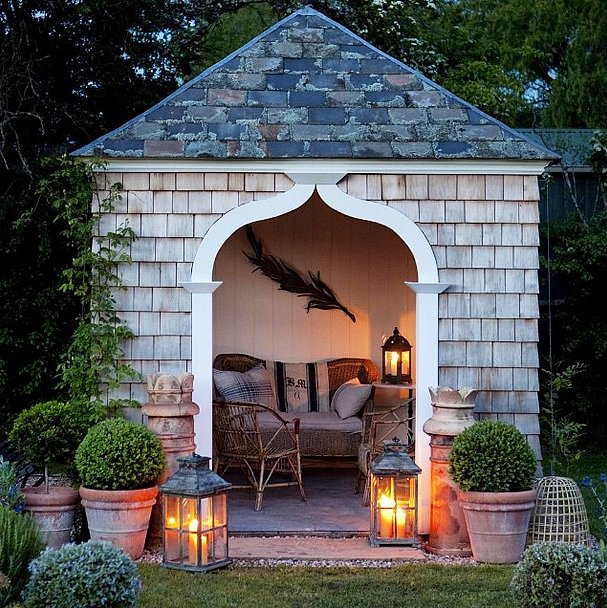 Weekend plans relaxing in this she shed with a glass of wine these supercute she sheds are - Man caves chick sheds mutual needs ...