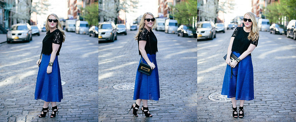 POPSUGAR Select Blogger Buzz: Your Ultimate Style Guide to the Midi-Skirt Trend