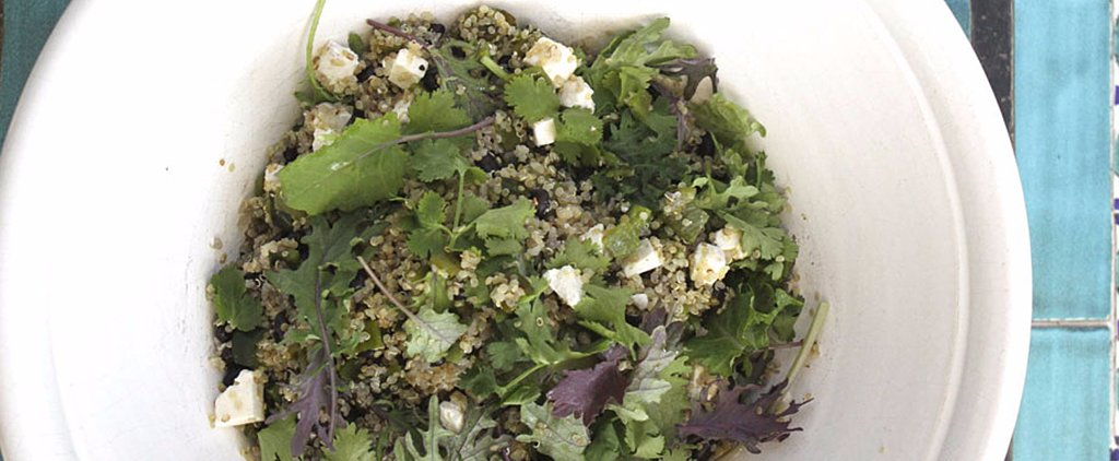 Quinoa, Roasted Poblanos, Black Beans, and Kale Join Forces in This Salad