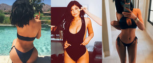 22 Times Kylie Jenner Showed Off Her Curves in a Sexy Black Swimsuit
