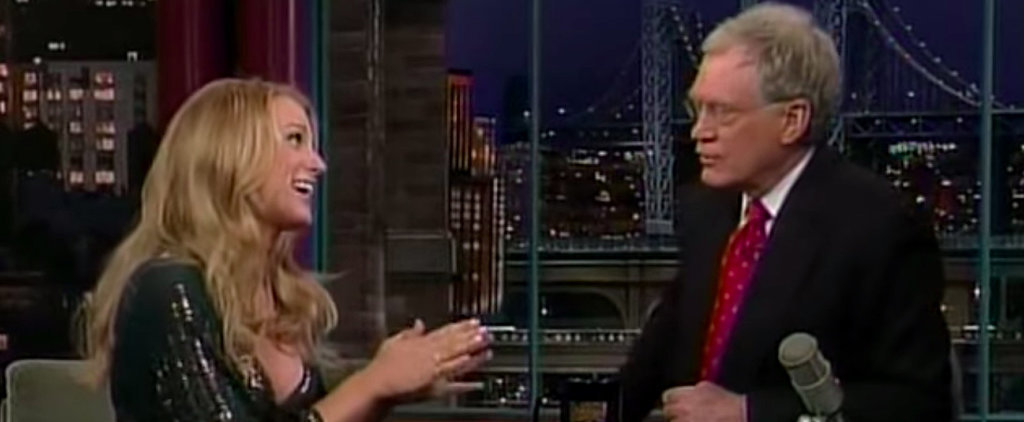 You'll Want to Rewatch Blake Lively's Nervous First Appearance on Letterman