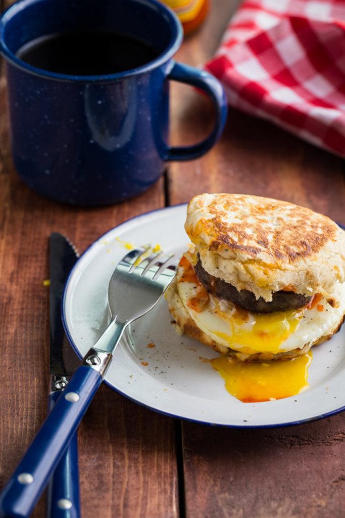 Campfire Breakfast Burgers