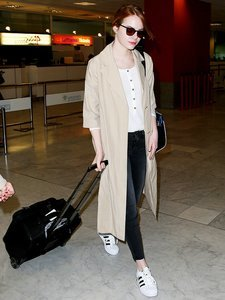 How to Get Emma Stone's Classic Airport Style