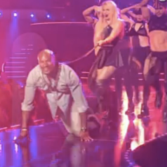 Britney Spears Walks Tyson Beckford on a Leash Video