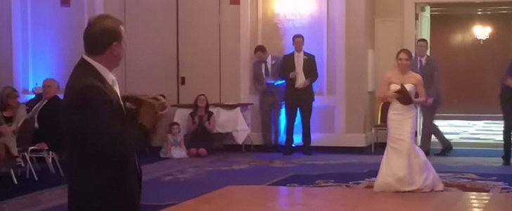 Dad Stops Traditional Father-Daughter Dance For a Surprise Game of Catch
