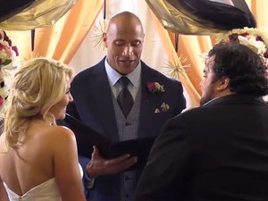 Watch Dwayne 'The Rock' Johnson Officiate a Longtime Fan's Surprise Wedding (VIDEO)