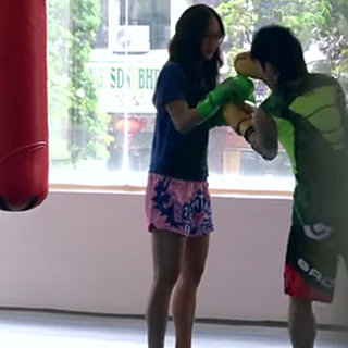 Kickboxing Champion Germaine Yeap Fakes It at the Gym