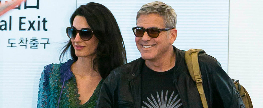 George and Amal Clooney Make a Smiley Arrival in Tokyo