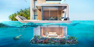 Dubai's 'Floating Seahorse' Homes Are Partially Submerged And Totally Futuristic