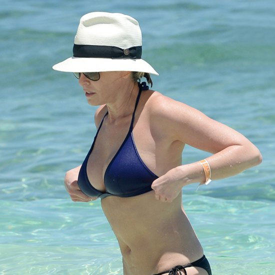 Chelsea Handler Wearing a Bikini in the Bahamas