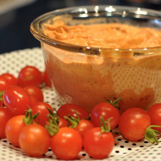 Roasted Tomato Hummus Recipe