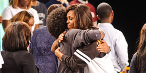 Michelle Obama Is The 'Hugger-In-Chief'