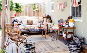 3 Ways to Style a Backyard Porch with Lively, Upbeat Details