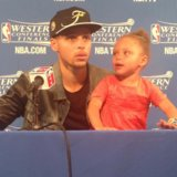 Stephen Curry's Daughter Brings Her Adorableness Back to the Postgame Interview Room