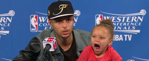All Stephen Curry's Daughter Wanted to Do During His Press Conference Was Sing Drake