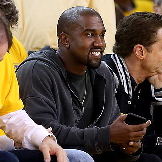 Kanye West at the Warriors Playoff Game