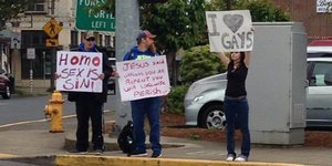 Teen's Act Of Love Inspires Oregon Town To Come Together Against Anti-Gay Protestors