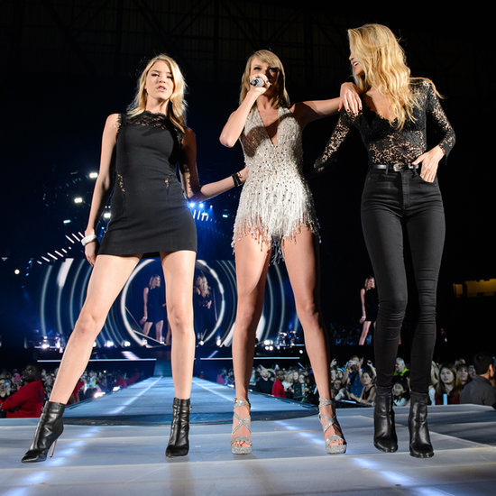 Taylor Swift on Stage With Gigi Hadid and Martha Hunt