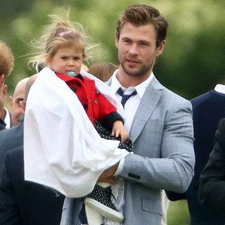Chris Hemsworth's Family Meets Princes Willia