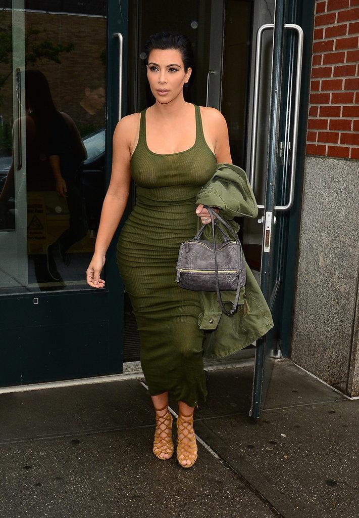 Kim Kardashian Wearing Sheer Tank Dress in New York City   POPSUGAR ...