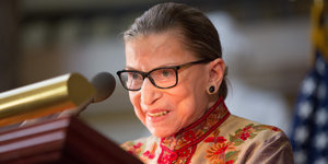 Ruth Bader Ginsburg Tells Young Women: 'Fight For The Things You Care About'