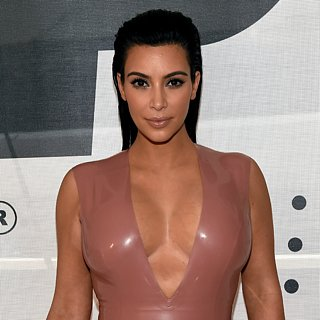 Kim Kardashian Pregnant in a Latex Dress